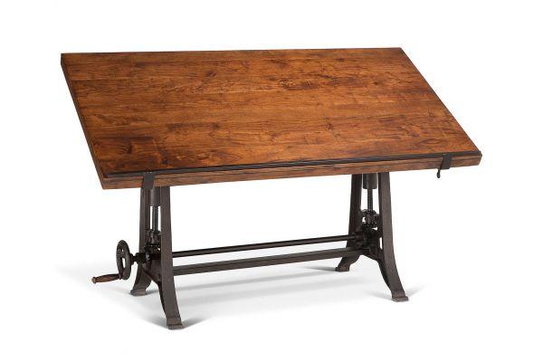 """Large image of Home Trends & Design Industrial Loft Walnut 62"""" Drafting Desk - FIL-OD62WN"""