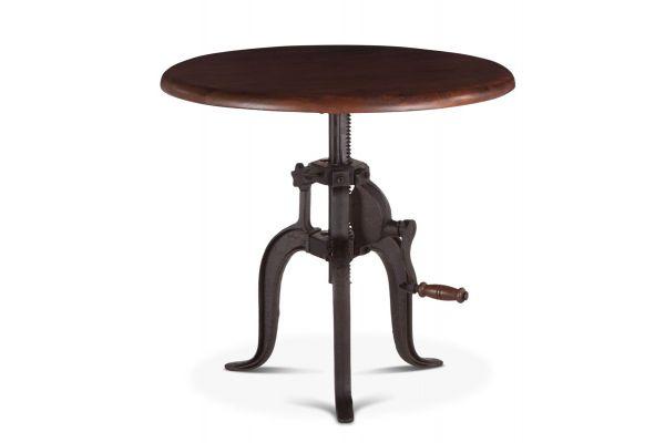 """Large image of Home Trends & Design 24"""" Walnut Industrial Loft Adjustable Side Table - FIL-ST24WN"""