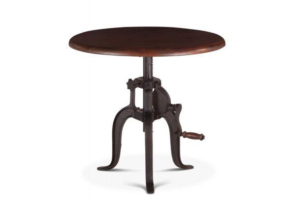 """Large image of Home Trends & Design 36"""" Walnut Industrial Loft Adjustable Side Table - FIL-ST36WN"""