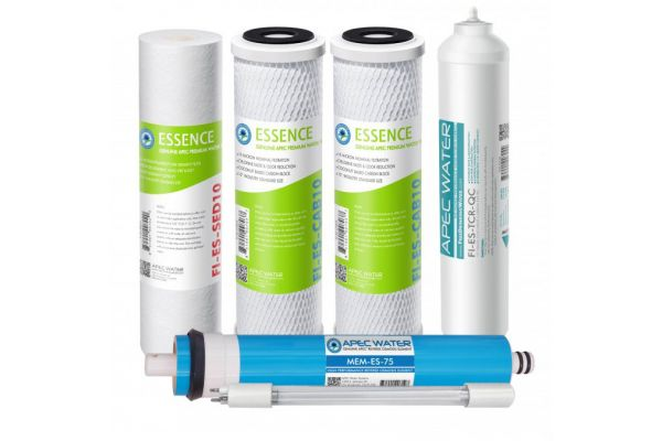 Large image of APEC Water Complete Filter Set For ESSENCE 75 GPD ROES Reverse Osmosis Systems - FILTER-MAX-ESUV-SS
