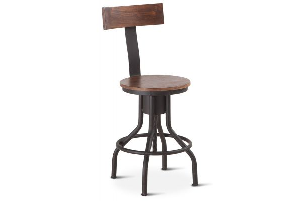 Home Trends & Design Industrial Modern Walnut Adjusting Chair - FIM-ADC18