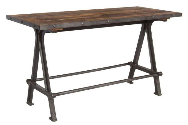"Large image of Home Trends & Design Industrial Teak 66"" Gathering Table - FIT-GT66"