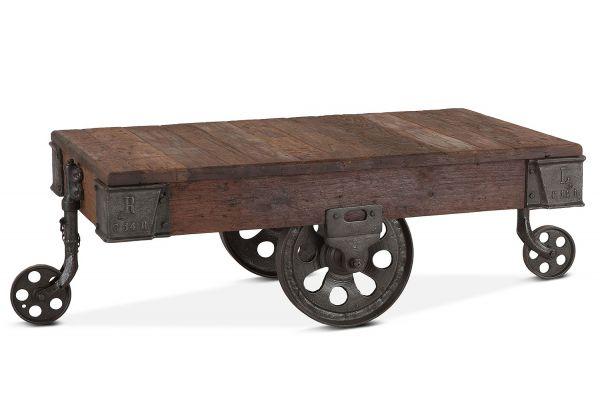 "Home Trends & Design Industrial Teak 50"" Reclaimed Wood Coffee Table - FIT-WCT50"