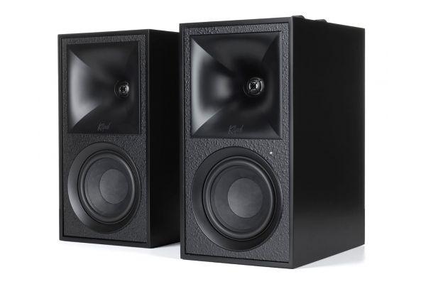 Large image of Klipsch The Fives Matte Black Powered Bookshelf Speaker System (Pair) - 1068024
