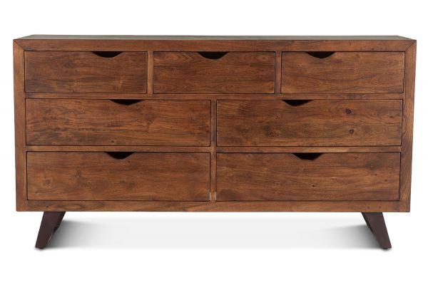 """Large image of Home Trends & Design London Loft 71"""" Walnut Dresser - FLL-DR71WN"""