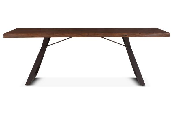 """Large image of Home Trends & Design 94"""" Walnut  London Loft Dining Table - FLL-DT94WN"""