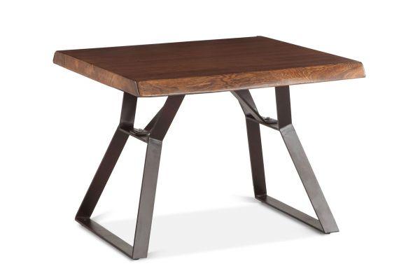 "Large image of Home Trends & Design London 23"" Walnut Loft Side Table - FLL-ST23WN"