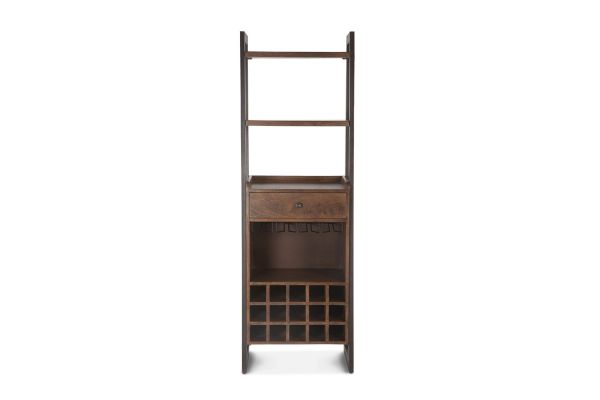 Large image of Home Trends & Design Mozambique Walnut Wide Bar Cabinet - FMZ-BC24