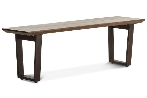 """Large image of Home Trends & Design Mozambique 56"""" Walnut Bench - FMZ-BN56WN"""