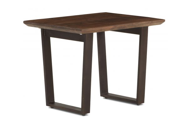 """Large image of Home Trends & Design Mozambique 28"""" Walnut Side Table - FMZ-ST28WN"""