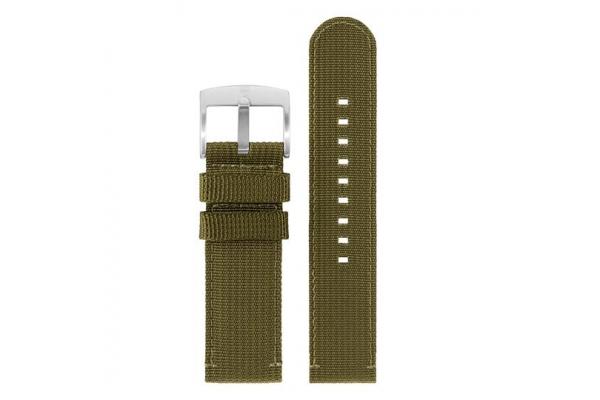 Large image of Luminox 24mm Green Webbing Watch Strap - FNX240160QK