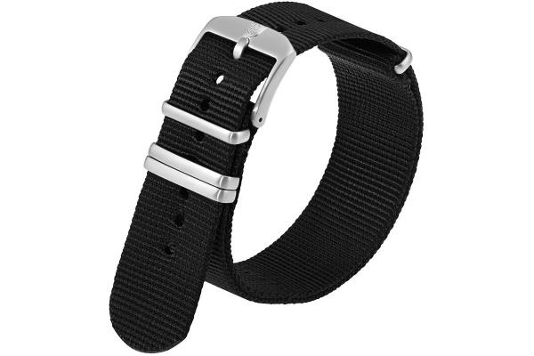 Large image of Luminox 22mm Black Webbing Watch Strap - FNX220120QK