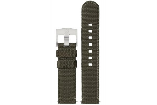 Large image of Luminox 22mm Green Textile Watch Strap - FNX220260QK