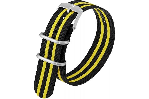 Large image of Luminox 23mm Black & Yellow Webbing Watch Strap - FNX395050QK