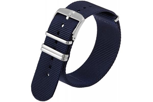 Large image of Luminox 24mm Blue Webbing Watch Strap - FNX924040QK