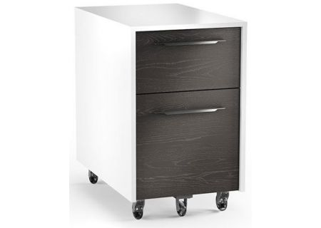 BDI Format 6307 Charcoal Stained Ash And Stain White Mobile File Pedestal - FORMAT6307SWCRL