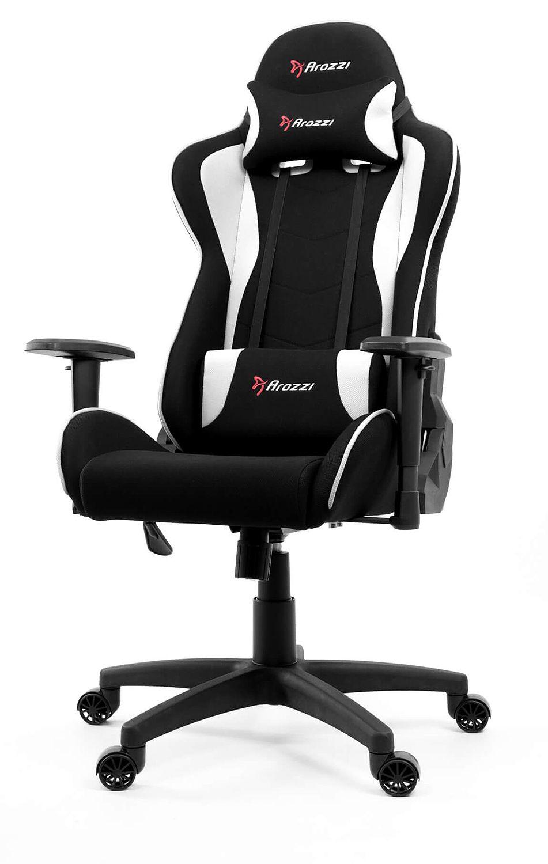 Tremendous Arozzi White Forte Fabric Gaming Chair Inzonedesignstudio Interior Chair Design Inzonedesignstudiocom