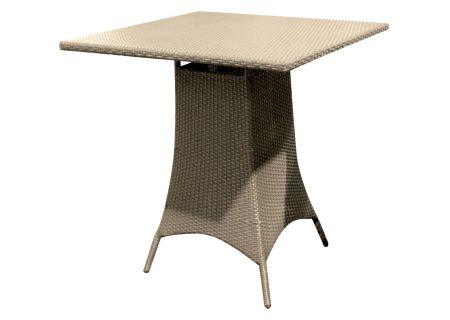 """Forever Patio Barbados 36"""" Biscuit Wicker Square Pub Table - FP-BAR-36SPT-BI"""