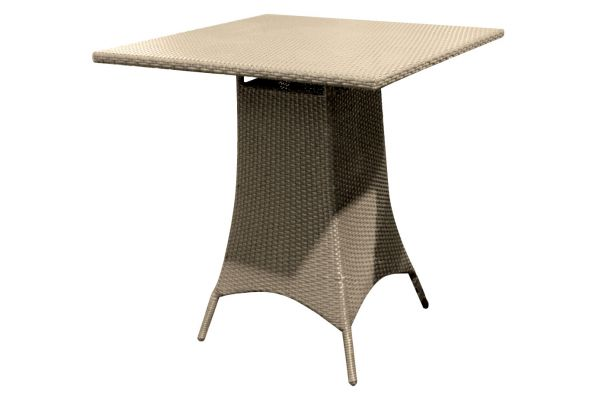 "Forever Patio Barbados 36"" Biscuit Wicker Square Pub Table - FP-BAR-36SPT-BI"