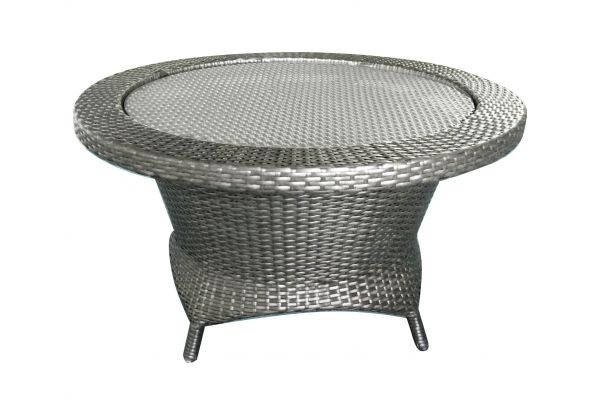 Forever Patio Barbados Heather Grey Rotating Chat Table - FP-BAR-RCHT-HT