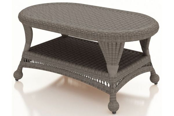 Forever Patio Catalina Heather Wicker Coffee Table - FP-CAT-CT-HT
