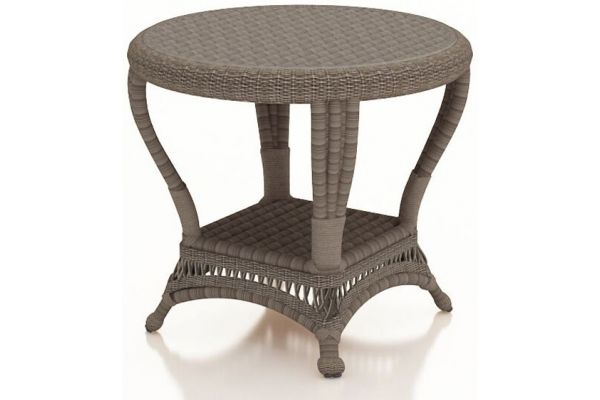 Forever Patio Catalina Heather Round Wicker End Table - FP-CAT-ET-HT