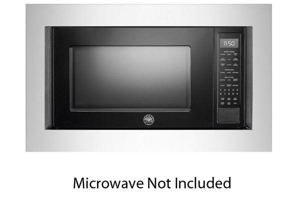 "Large image of Bertazzoni 30"" Silver Built-In Microwave Trim Kit - FR30PROX"