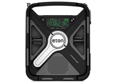 Eton Black Tri-Power Rugged  Bluetooth Smartphone Charging Weather Alert Radio With S.A.M.E. - NFRX5BTWXBG