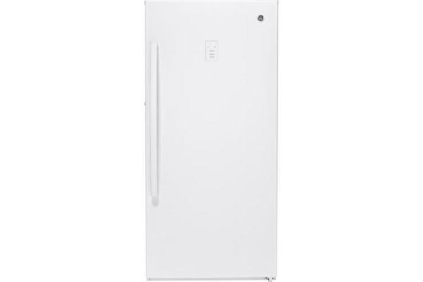 GE 14.1 Cu. Ft. White Frost-Free Upright Freezer - FUF14SMRWW