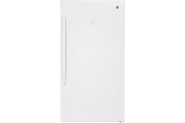 GE 17.3 Cu. Ft. White Frost-Free Upright Freezer - FUF17SMRWW