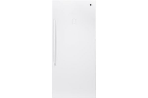 GE 21.3 Cu. Ft. White Frost-Free Upright Freezer - FUF21SMRWW