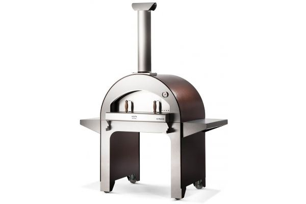 Large image of Alfa 4 Pizze Copper Top Wood Fired Pizza Oven With Base - FX4PIZLRAM