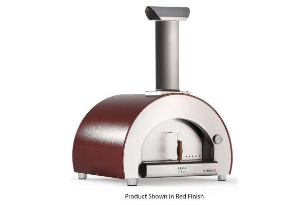 Alfa 5 Minuti Silver Top Wood Fired Oven - FX5MINLRAMT