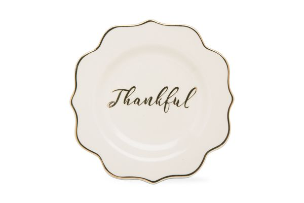 Large image of Tag Thankful Appetizer Plate - G10430