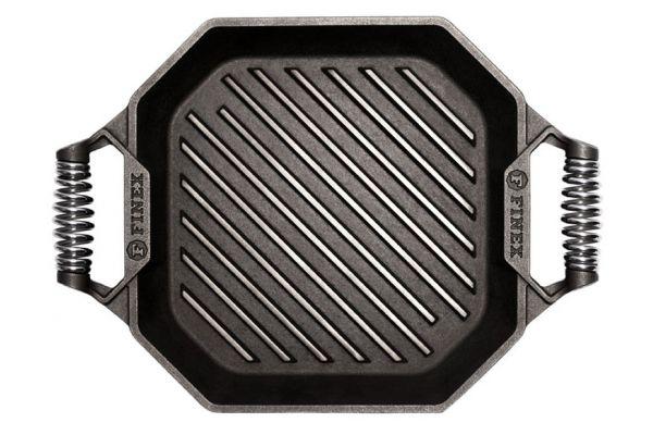 "Finex 12"" Cast Iron Grill Pan - G12-10002"