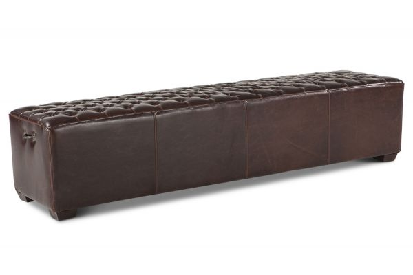 "Home Trends & Design D'Orsay 81"" Leather Bench - G201-138-530-47"
