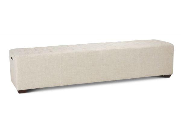 "Large image of Home Trends & Design D'Orsay 81"" Linen Bench - G201-138-J08-47"
