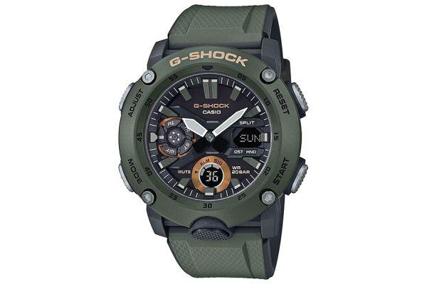 Casio G-Shock Carbon Core Guard Green Watch - GA-2000-3ACR