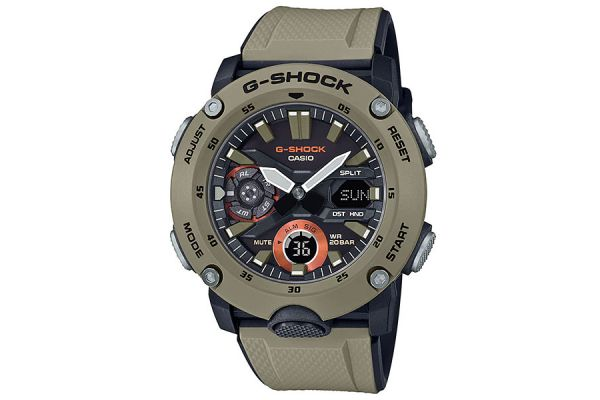 Large image of G-Shock Carbon Core Guard Brown Watch - GA-2000-5ACR