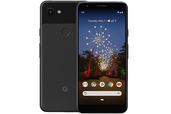 Large image of Google Pixel 3a 64GB Just Black Unlocked CDMA+GSM* Phone - GA00655-US