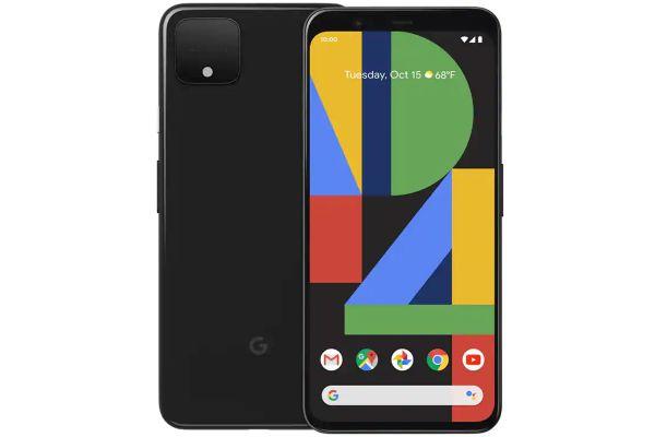Large image of Google Pixel 4 128GB Just Black Unlocked CDMA+GSM* Phone - GA00681-US