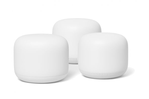 Large image of Google Nest Wifi Snow Router And Snow Point 2-Pack - GA00823-US