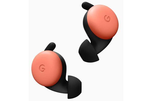 Large image of Google Pixel Buds Orange True Wireless Headphones - GA01471-US