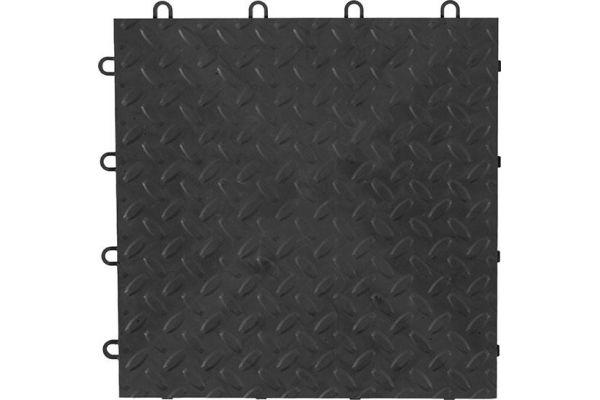 """Large image of Gladiator Garageworks 12"""" x 12"""" Charcoal Tile Flooring (4-Pack) - GAFT04TTPC"""