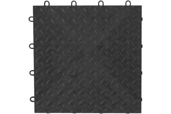 """Large image of Gladiator Garageworks 12"""" x 12"""" Charcoal Tile Flooring (48-Pack) - GAFT48TTPC"""