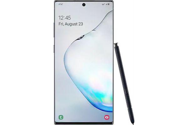 Large image of Samsung Galaxy Note10+ 5G 256GB Aura Black Cellular Phone - GALAXYNOTE10PLUS5G-BK-256