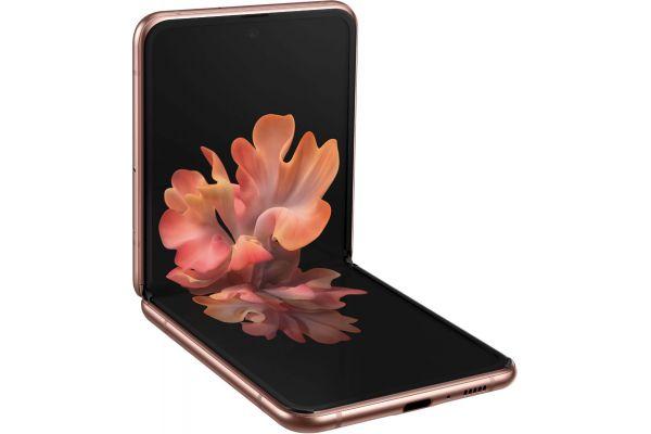 Large image of Samsung Galaxy Z-Flip 5G Mystic Bronze 256GB Wireless Cellular Phone - SM-F707UBZ & 6538C