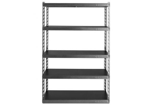"Large image of Gladiator Garageworks 48"" Wide EZ Connect Rack With Five 24"" Deep Shelves - GARK485XGG"