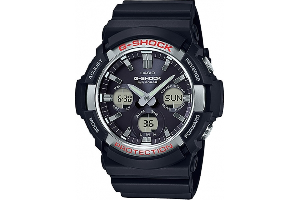 Large image of G-Shock Solar Analog-Digital Resin Black Mens Watch - GAS100-1A