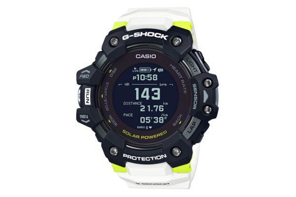 Large image of G-Shock G-Move Black/White Mens Digital Watch With Heart Rate Monitor - GBDH1000-1A7